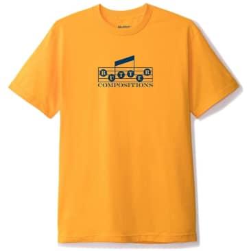 Butter Goods Compositions T-Shirt - Gold