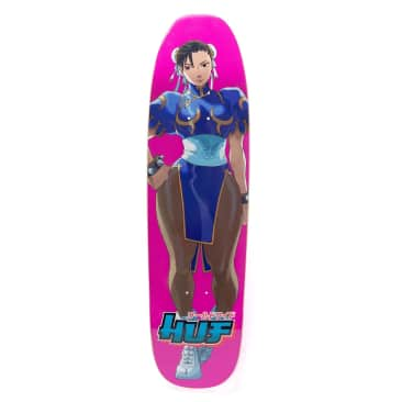 HUF X Street Fighter Chun-Li Cruiser Shaped Skateboard Deck - 8.5