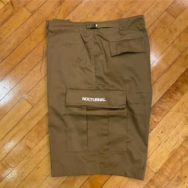 Nocturnal Logo Cargo Shorts (Coyote Brown)