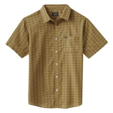 Charter Print S/S Woven - Drab Olive