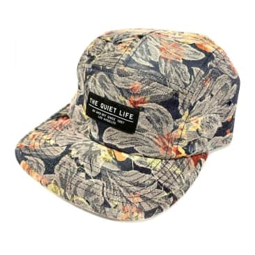 The Quiet Life Denim Camper Panel Hat - Floral