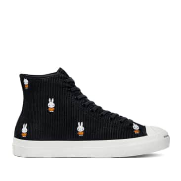 Converse CONS Pop x Miffy JP Pro Hi Cord Shoes - Black / White / Egret