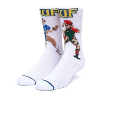 HUF - HUF x Street Fighter Chum-Li and Cammy Socks   White