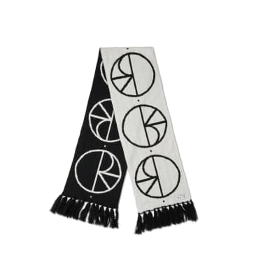 Polar Skate Co Stroke Logo Scarf - Black / White