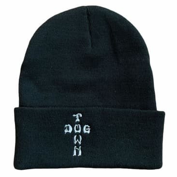 Dogtown Beanie Cross Letters Black