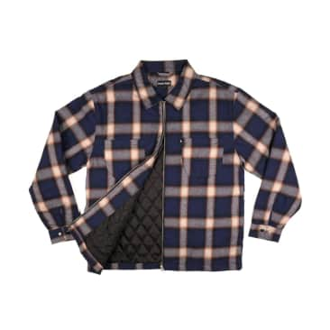 Pass~Port Skateboards - Quilted Zip-Up Flannel Jacket