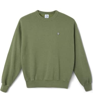 Polar Skate Co Patch Crewneck - Heather Green