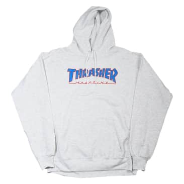 thrasher outline hood (ash)