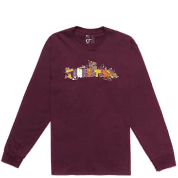 Chrystie NYC NYC Workers Long Sleeve T-Shirt - Maroon