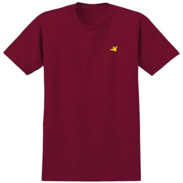 Krooked Skateboards OG Bird Embroidered T-Shirt - Cardinal