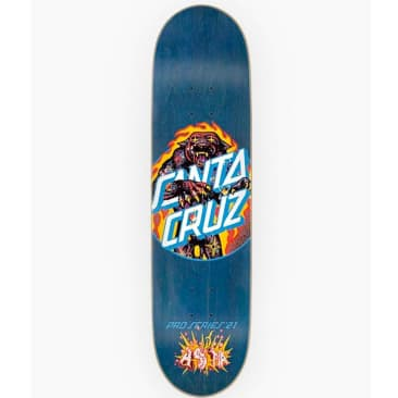 Santa Cruz Asta Cosmic Cat Dot Blue Deck - 8""