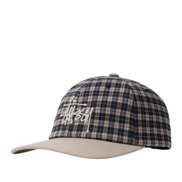 Stussy Plaid 2-Tone Low Pro Cap - Off White