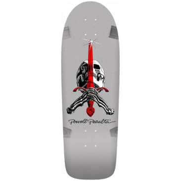 Powell Peralta Ray Rodriguez Sword and Skull Silver Skateboard Deck - 10""