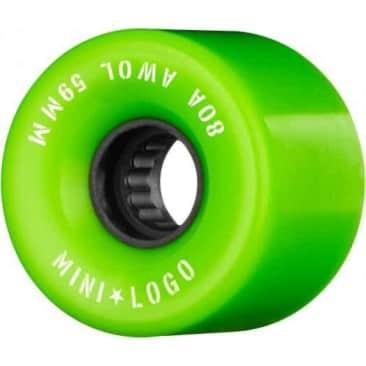 Mini Logo- AWOL Cruiser Wheels 59mm Green