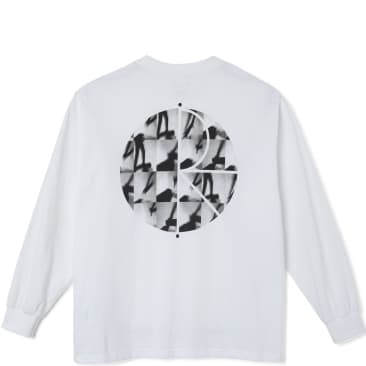 Polar Skate Co Sequence Fill Logo Long Sleeve T-Shirt - White