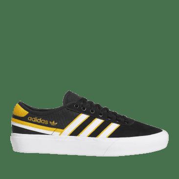 adidas Skateboarding Delpala Shoes - Core Black / Cloud White / Crew Yellow