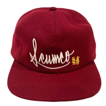 Scumco & Sons Baseball Hat Burgundy Wool