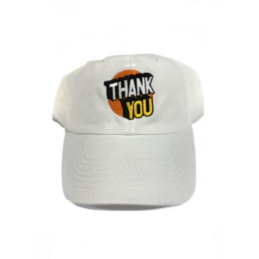 Thank You Skateboards Spot On Dad Hat White