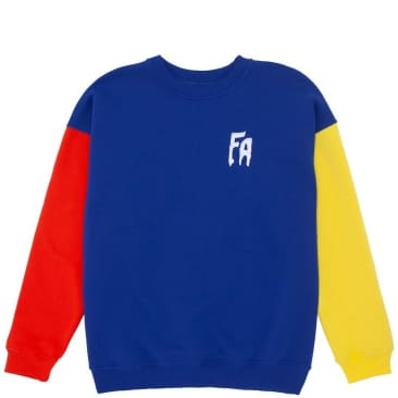 Fucking Awesome Primary Crewneck Sweatshirt - Navy / Red / Yellow