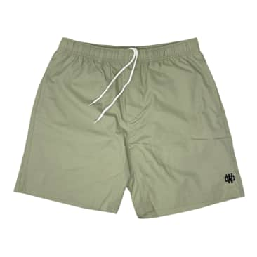 WORKING CLASS MONOGRAM EMBROIDERY BEACH SHORT - PISTACHIO/SILVER