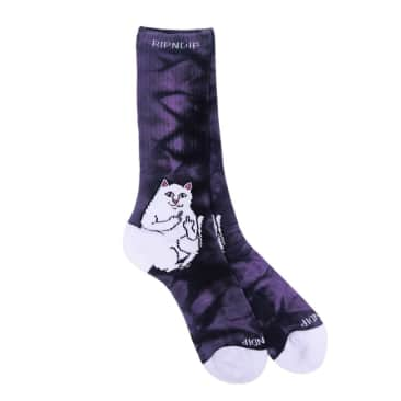 Rip N Dip - Lord Nermal Socks - Purple Lightning