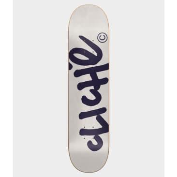 """Cliché Skateboards Handwritten White Deck 8.0"""""""