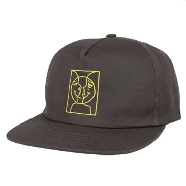 Krooked Moon Smile Snap Back - Grey