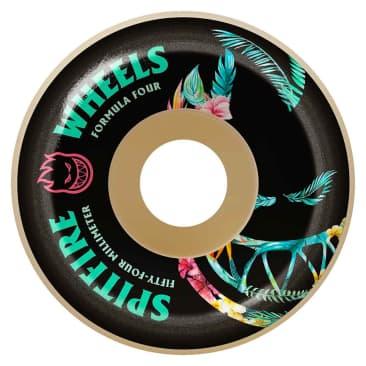 Spitfire Formula 4 Floral Conical Wheels - (56mm)