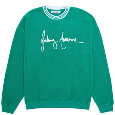 Fucking Awesome Cursive Crewneck Sweatshirt - Green