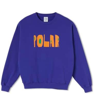 Polar Skate Co Cut Logo Crewneck - Purple