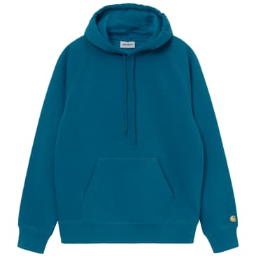 Carhartt WIP Hooded Chase Sweat - Corse / Gold
