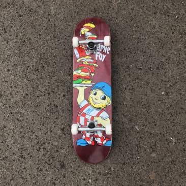 Deathwish Jamie Foy Big Boy Complete Skateboard - 8.00 (Purple Stain)