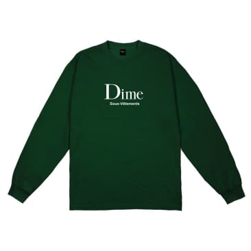 Dime MTL Sous-Vetements L/S T-Shirt Forest Green