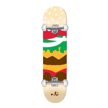 "Enjoi Burger Time Youth First Push Multi 7.375"" Complete Skateboard MID"