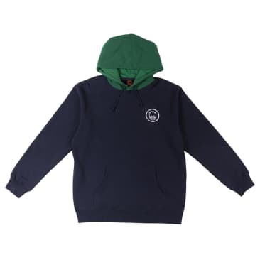 Spitfire Classic Swirl Hoodie Navy/Green - Large