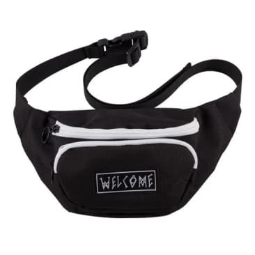 Welcome Skateboards Scrawl Waist Bag Black/White
