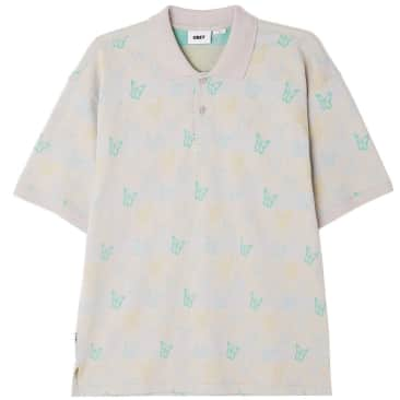 OBEY Butterfly Polo Shirt - Lilac / Multi