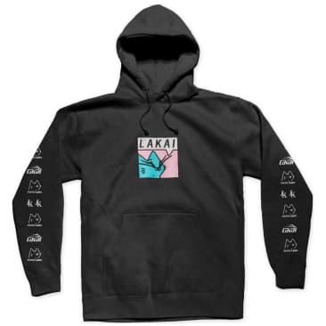 Lakai x Leon Karssen Box Embroidered Cat Hoodie - Black