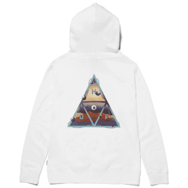 HUF Altered State Triple Triangle Pullover Hoodie - White