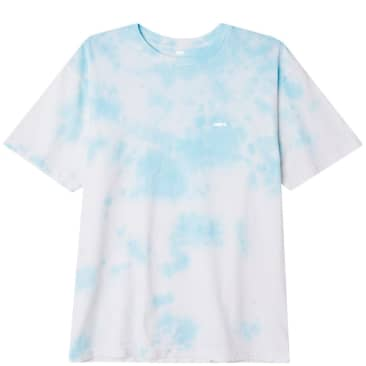 OBEY Bold Organic Soft Cloudy Tie Dye T-Shirt - Tranquility Blue