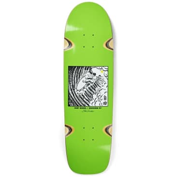 Polar Skate Co. Shin Sanbongi Freedom Lime Surf JR Shape Wheel Wells Skateboard Deck - 8.75""