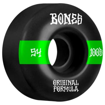Bones 100's Wheels #14 OG Formula Wide Black 54mm