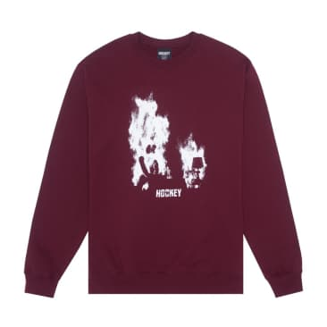 Hockey At Ease Crewneck - Maroon