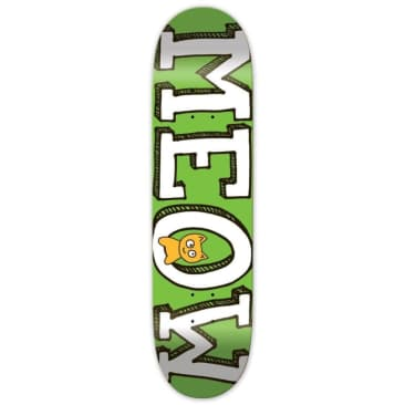 Meow Skateboards Logo Deck Green 8.25""