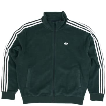 adidas Bouclette Jacket - Mineral Green / White