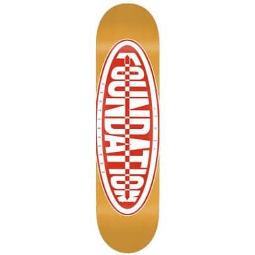 Foundation Oval Skateboard Deck 8.25""