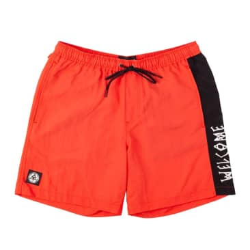 Welcome Skateboards Solstice Woven Nylon Shorts - Chilli / Black