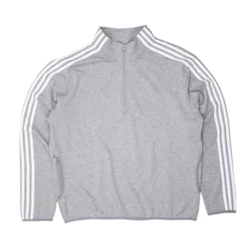 Adidas Terry Track Top Jacket - Grey/White