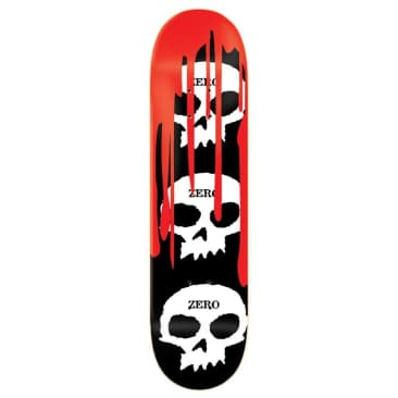 Zero Deck 3 Skull Blood Black White Red 8""