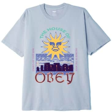 OBEY The House Of OBEY Organic T-Shirt - Good Grey